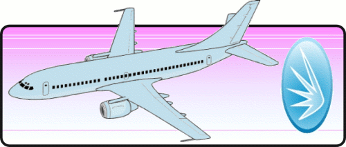 Plane and Glass Wings logo
